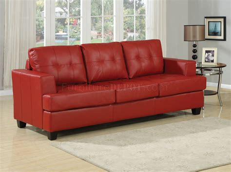 red sleeper sofa queen red bonded leather modern sofa w queen size sleeper