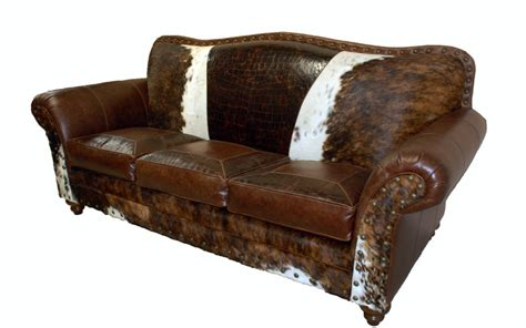 Cowhide Sofa Sale by Western Furniture Leather Cowhide Furniture