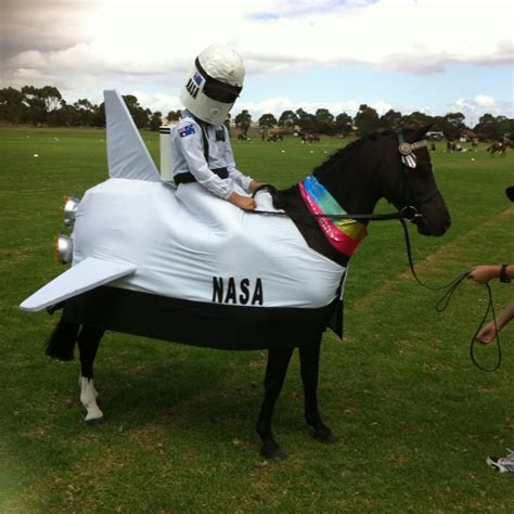 fancy dress costumes pony horse horses rider space costume halloween matching outfits shuttle diy outfit petdiys things funny son ponies
