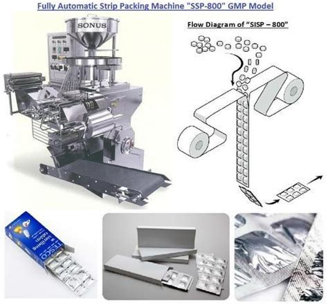 packaging machines fully automatic strip packing machine ssp  gmp model manufacturer