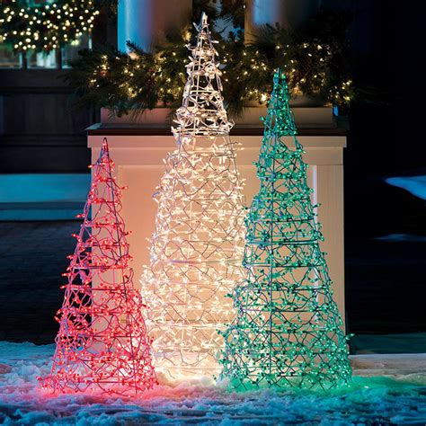 72 quot transparent lighted cone tree frontgate