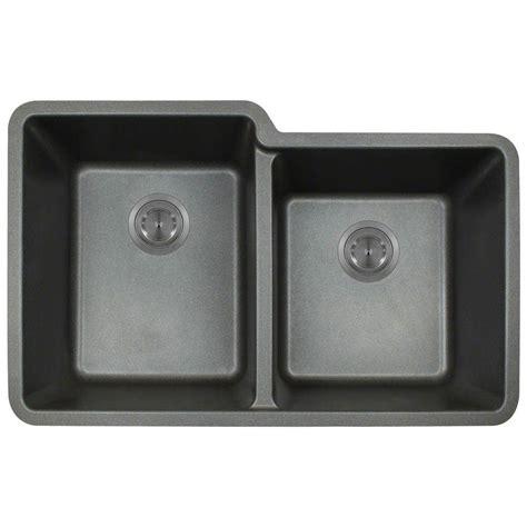 composite undermount kitchen sinks polaris sinks undermount composite 33 in basin 5666