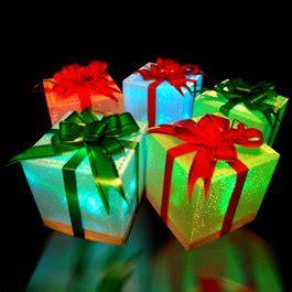 9 led light up gift box ornaments decorations