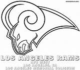 Nfl Logos Coloring Pages Colorings Print Losangelesrams sketch template