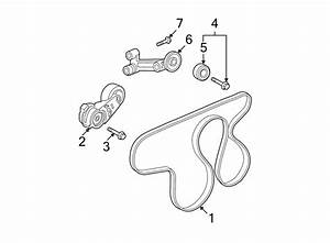 2007 Gmc Canyon Accessory Drive Belt Tensioner Assembly