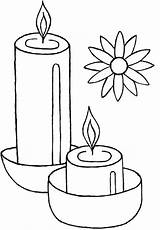 Diwali Coloring Candles Candle Celebrate Drawing Pages Netart Getdrawings sketch template