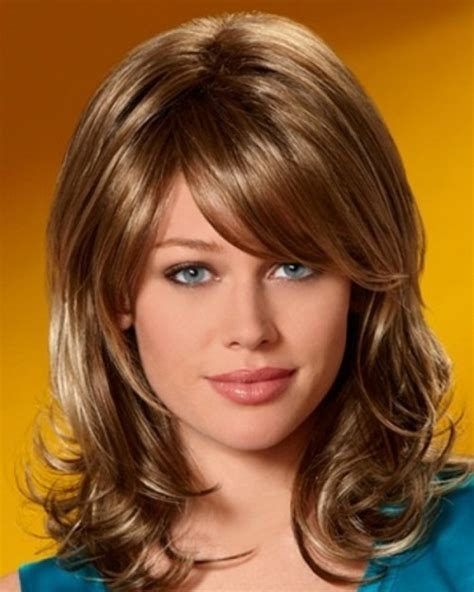 haircuts with volume at the crown medium length hairstyles with bangs and volume at crown 3008