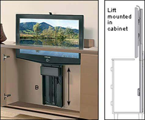 Hydraulic Lift Tv Cabinet by Motorized Tv Lifts Valley Tools