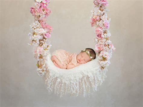 digital backdrop newborn photography ariana floral swing