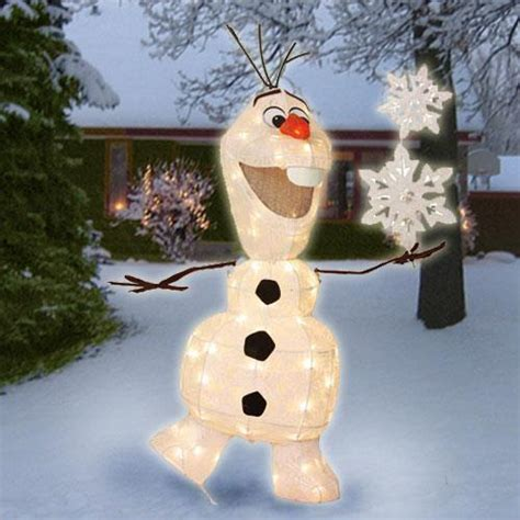 lighted pre lit disney frozen olaf sculpture outdoor