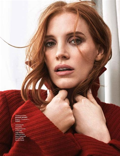 actress like jessica chastain jessica chastain is a sophisticated vision for elle france