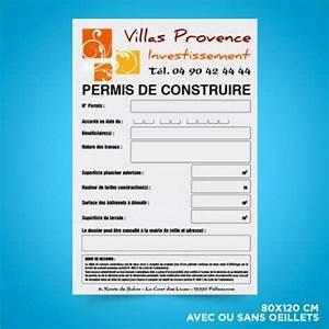 Panneau De Permis De Construire : panneaux de chantier akilux 80x120 cm panneaux permis de ~ Dailycaller-alerts.com Idées de Décoration