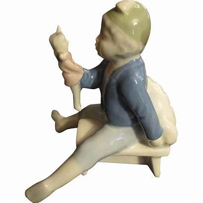 Porcelain Figurine Number Unusual Impressed