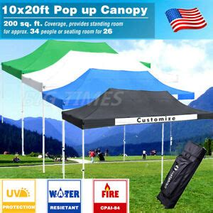 ft pop  canopy tent commercial trade fair ez  canopy shade party tent ebay
