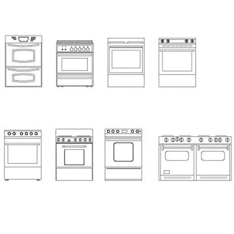 bloc autocad cuisine cookers elevation dwg block max cad com