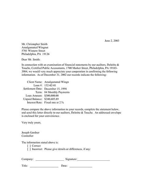audit confirmation template audit