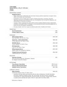 Objectives For Resume Nursing by Nursing Resume Objective Exle Resume Builderresume