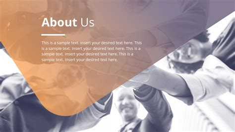 professional layout company about us slidemodel