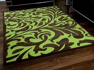 designer teppich passion braun grun barock teppiche With balkon teppich mit barock tapete braun