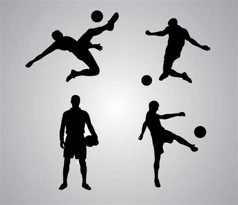 Nba Standing Playoffs by Soccer Player Silhouette Vector Download
