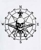 Compass Rose Pirate Skull Coloring Tattoo Sketch Wickedbabesblog Template Southwestdanceacademy sketch template