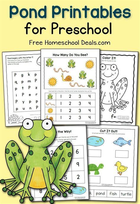 preschool pond printables instant