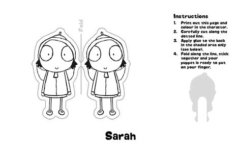 Sarah And Duck Coloring Pages - Democraciaejustica