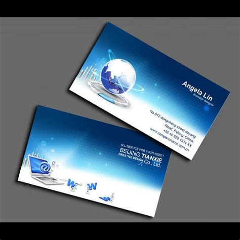 Computer Psd Templates Download by It Computer Business Card Network Information Card Psd