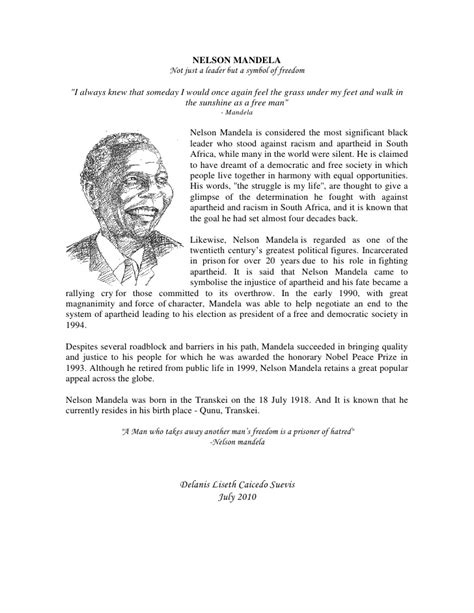 Biography Sle by Biography Of Nelson Mandela Essay Nelson Mandela Biography