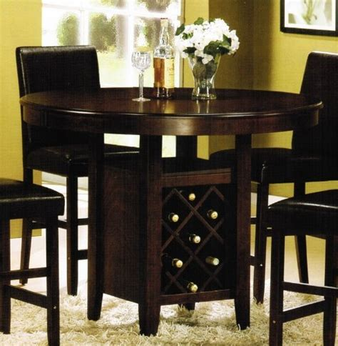 kitchen table wine storage dining room table with wine rack marceladick com