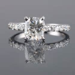 cushion cut solitaire engagement rings pros of cushion cut engagement rings wedding promise engagement rings