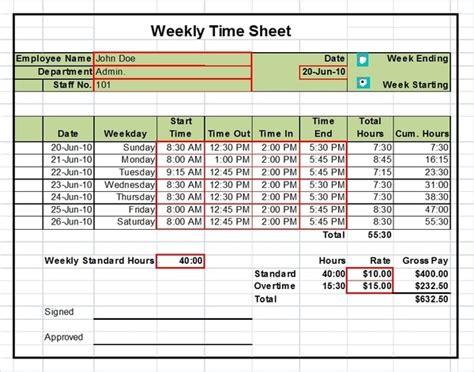 excel timesheet templates ready      box