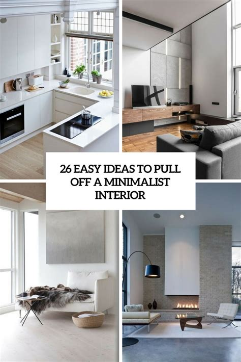 easy ideas  pull   minimalist interior digsdigs