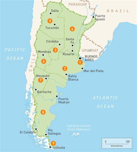map  argentina argentina regions rough guides