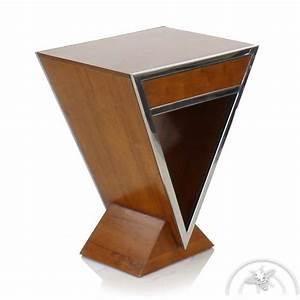 Table De Chevet Design Bois Clair Delta Saulaie