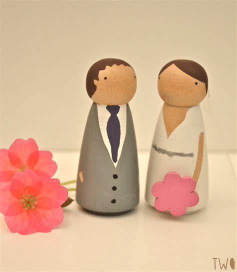 bride and groom cake topper diy kit emmaline bride