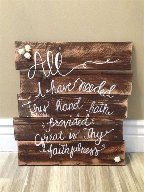 Items similar to Large, Wood sign, rustic, great is thy