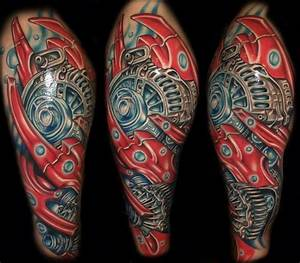 Shoulder Biomechanical Tattoo by Tattoo by Roman