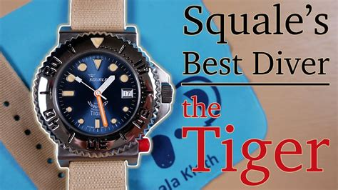 Squale Tiger Review  A Better Rolex Submariner Dial