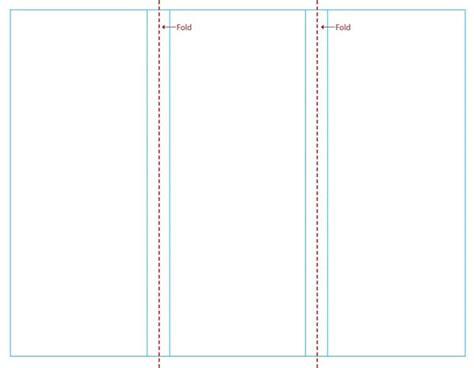 tri fold brochure templates blank cyberuse