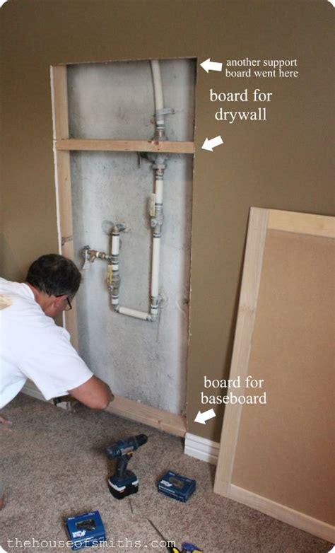 project basement makeover hiding  water shut