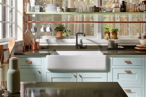 simple kitchen sink apron front sinks an easy kitchen update kohler 2239