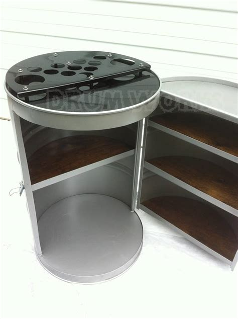gallon steel drums repurposed  amazing furniture