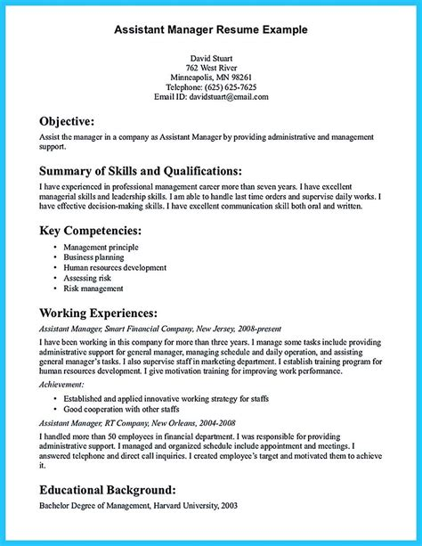 Resume Format For Assistant Manager by Cool Store Assistant Manager Resume That Can Bag You