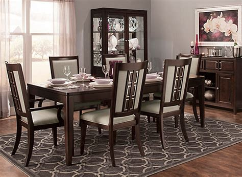 Raymour And Flanigan Broadway Dining Room Set by Cadence 7 Pc Dining Set Merlot Raymour Flanigan