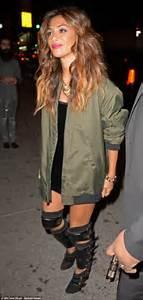 Nicole Scherzinger In Edgy Bondage Style Boots As She