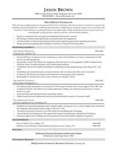 Field Service Technician Resume Cover Letter by Field Service Technician Resume Sle Sles Of Resumes