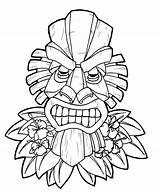 Coloring Pages Luau Printables Tiki Adults Popular sketch template
