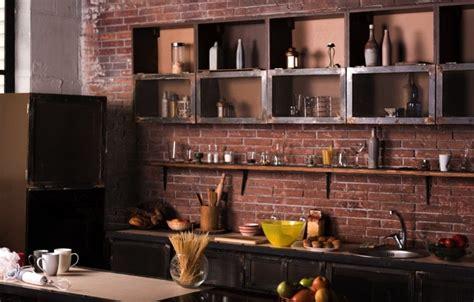 cuisine avec brique la brique dans votre salle à manger 20 modèles pour vous