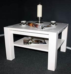 Wohnzimmertisch Holz Weiß : couchtisch 74x48x74cm ablageboden kiefer massiv wei lasiert ~ Frokenaadalensverden.com Haus und Dekorationen